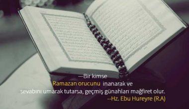 Ramazan İle İlgili Sözler