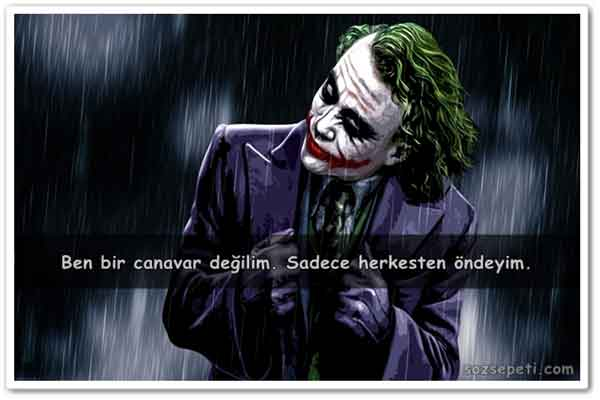 Joker Sözleri,En Güzel Joker Sözleri,Anlamlı Joker Sözleri