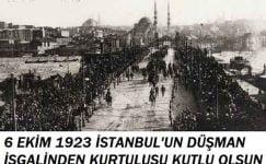 6 Ekim İstanbul'un Kurtuluşu Mesajları